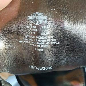Harley-Davidson Shoes - Harley-Davidson black leather ankle strap highheel